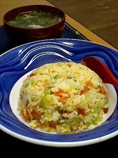 鮭レタス炒飯