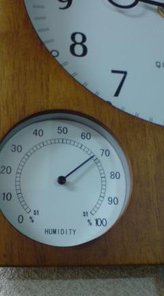 湿度70%
