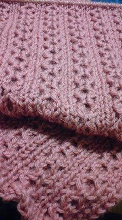 1目ゴム編み留めました。